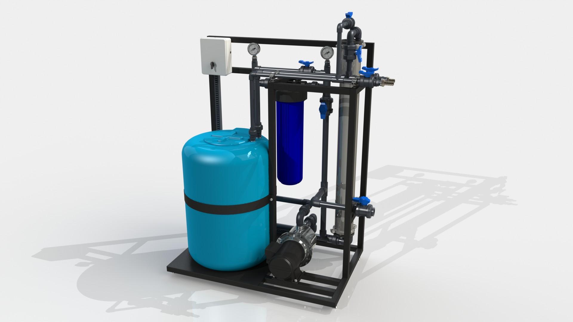 Система для химического промывания мембран 4040