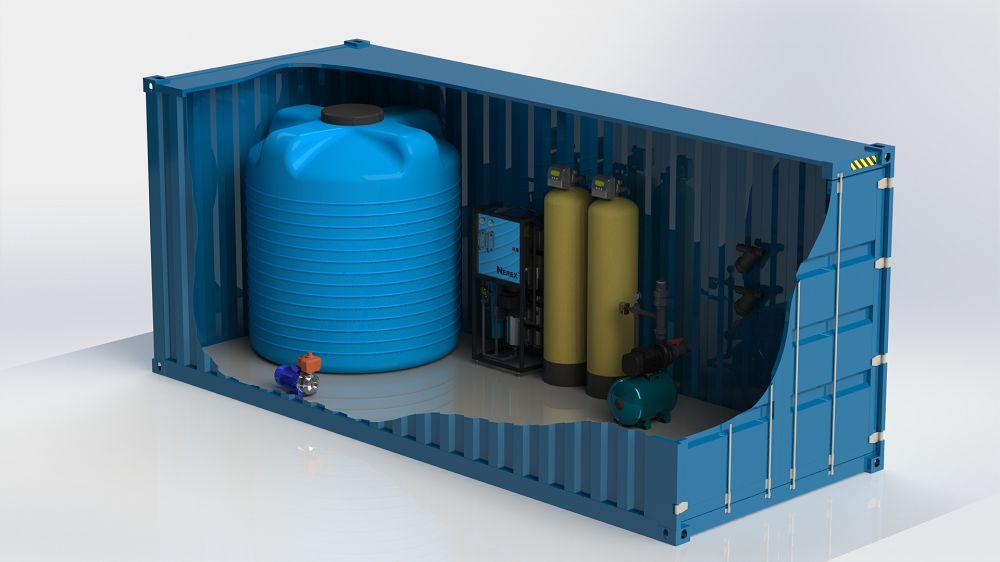 Оборудованный контейнер 20 футов